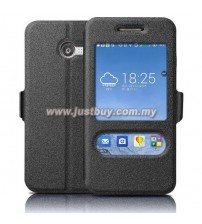 Asus Zenfone 4 Window View Flip Cover - Black